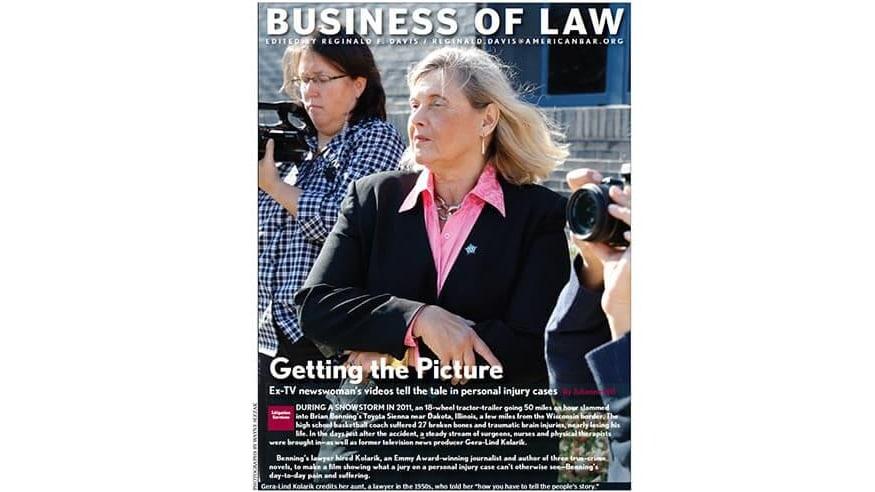 Front page of the American Bar Association Journal featuring Gera-Lind Kolarik