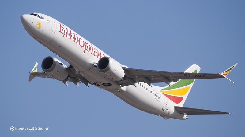 Ethiopian Airlines ET-AVJ - photo used under Creative Commons license by LLBG Spotter https://www.flickr.com/photos/newfz28user/46461974574/