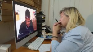 Gera-Lind reviews interview footage from Ethiopian Airlines crash cases