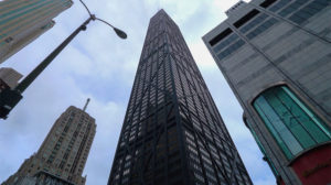 The John Hancock Tower in downtown Chicago